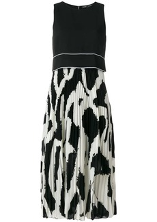 Proenza Schouler Graffiti Pleated Long Dress