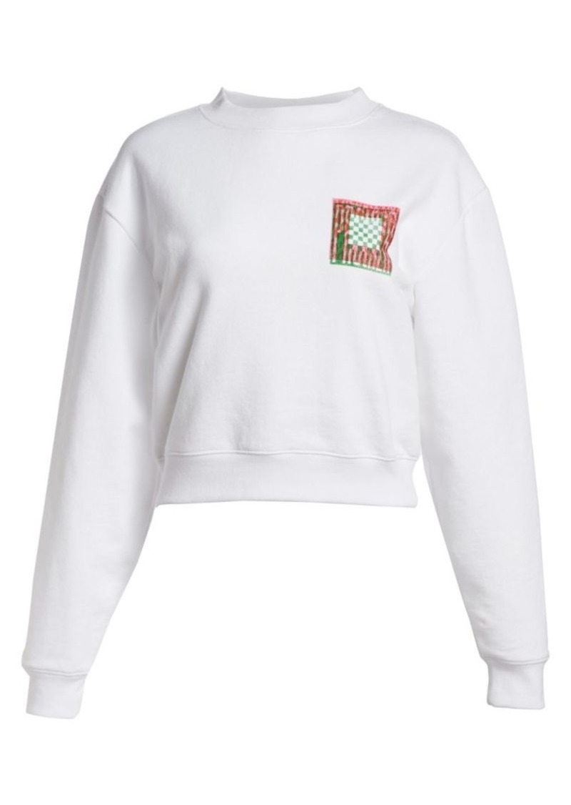 Proenza Schouler Graphic Cotton Sweatshirt