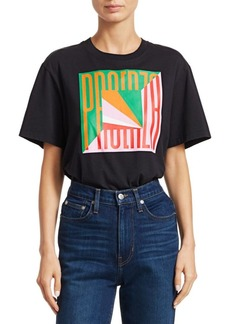 Proenza Schouler Graphic Cotton T-Shirt