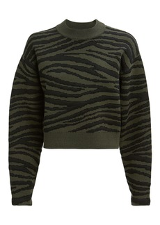 Proenza Schouler Green Tiger Stripe Sweater