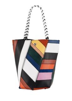 Proenza Schouler Hex Medium Colorful Patchwork Leather Bucket Bag
