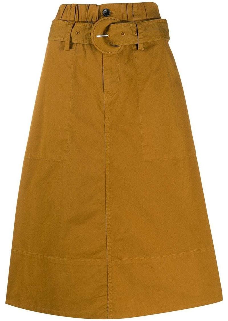 Proenza Schouler high rise midi skirt