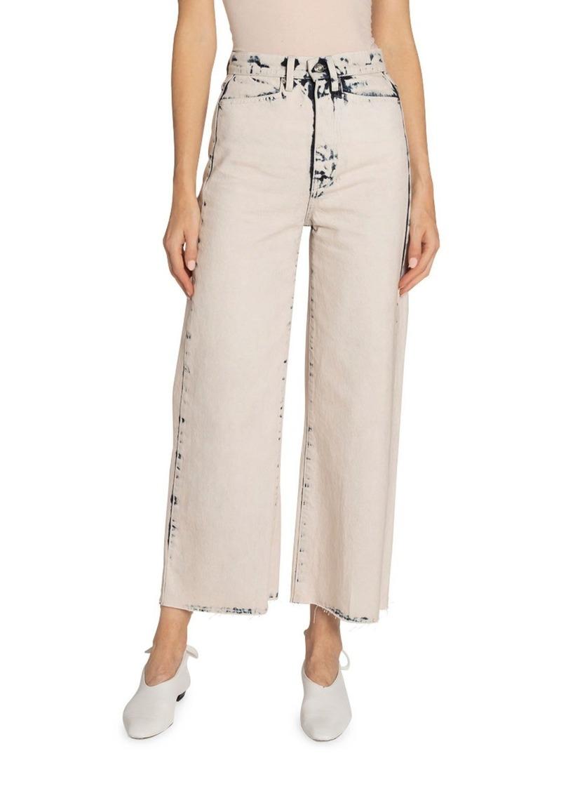 Proenza Schouler High-Rise Wide-Leg Cropped Jeans