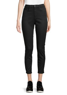 Proenza Schouler High-Waist Cropped Dark Jeans