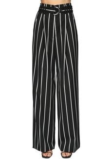 Proenza Schouler High Waist Striped Wool Twill Pants