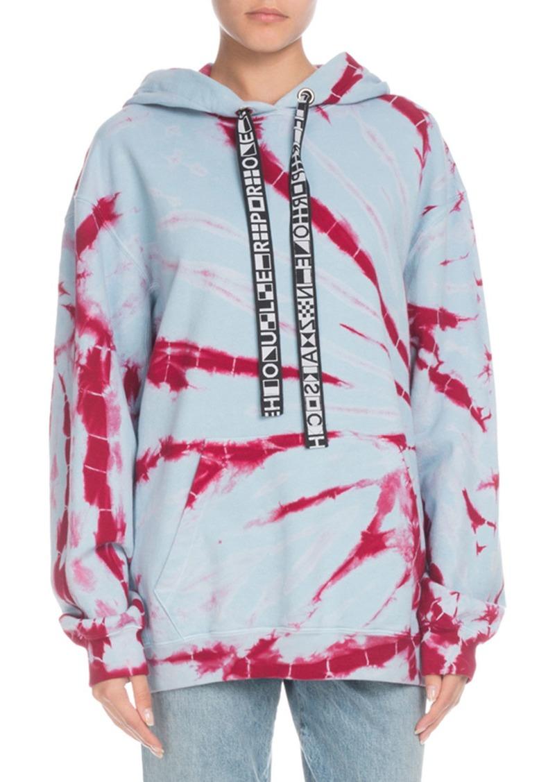 Proenza Schouler Hooded Tie-Dye Pullover Sweatshirt
