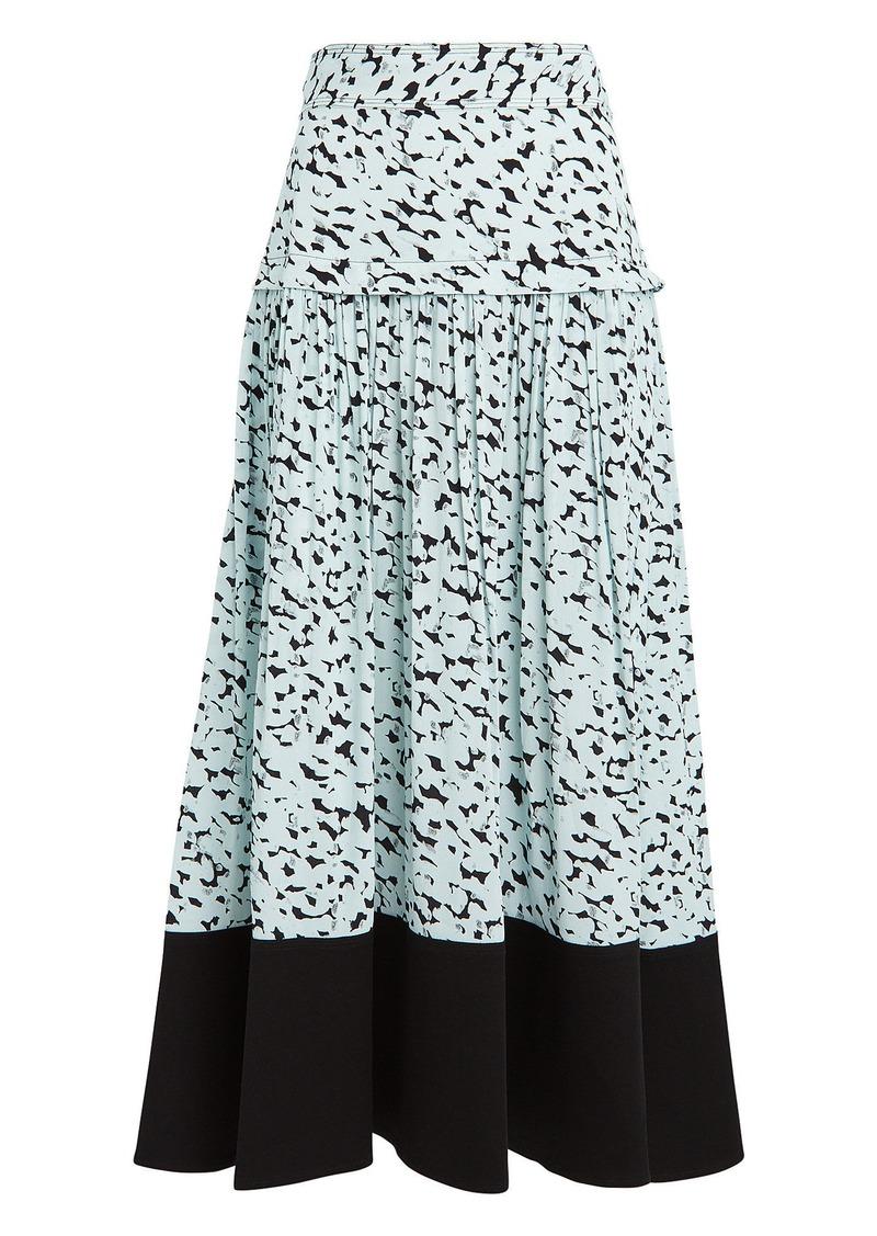 Proenza Schouler Inky Leopard Belted Skirt