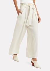 Proenza Schouler Ivory Crepe Paperbag Waist Pants