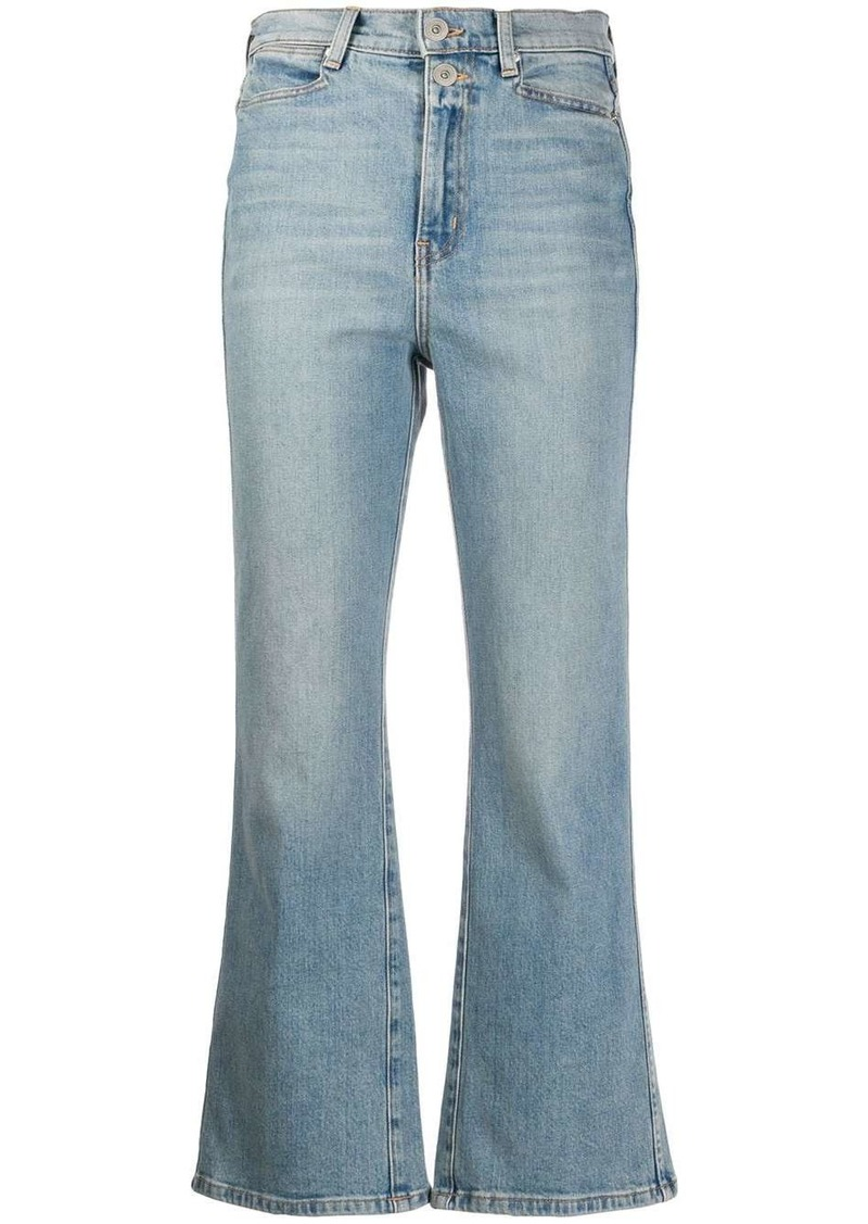 Proenza Schouler cropped flared mid-rise jeans