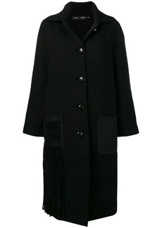 Proenza Schouler Chenille Embroidered Knit Coat