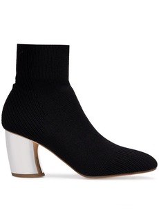 Proenza Schouler black knit sock mirrored heel boots