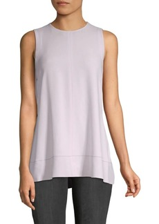 Proenza Schouler Lace-Up Sleeveless Flared Top