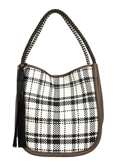 Proenza Schouler Large Plaid & Leather Tote