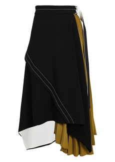 Proenza Schouler Layered Pleated Colorblock Skirt