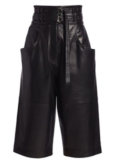 Proenza Schouler Leather Belted Shorts