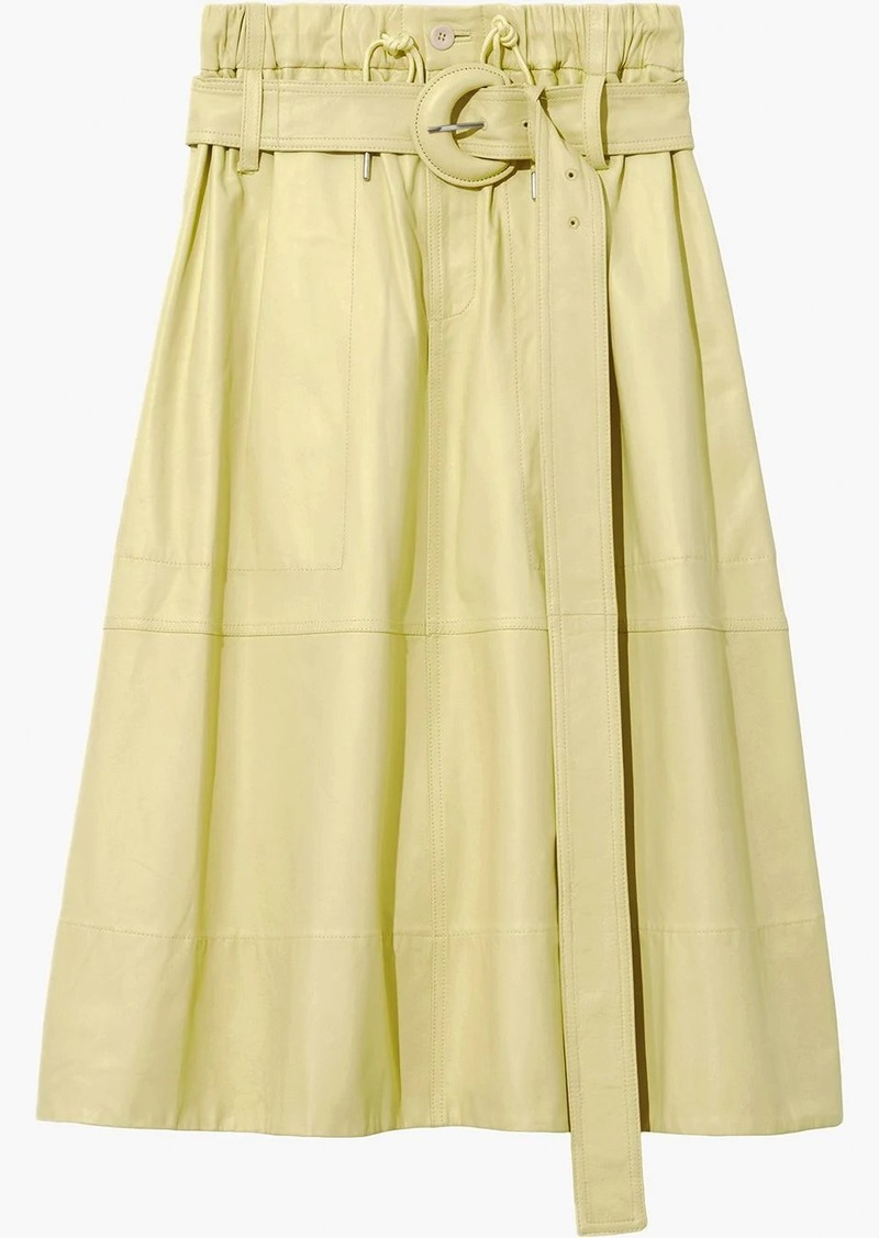 Proenza Schouler Leather Belted Skirt