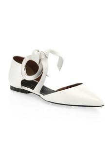 Proenza Schouler Leather d'Orsay Flats