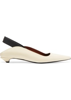 Proenza Schouler Leather Slingback Pumps