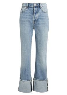 Proenza Schouler Logo Trim Detail Stove Pipe Jeans