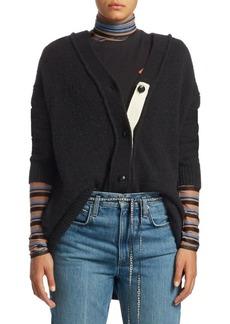 Proenza Schouler Long Brushed Wool Cardigan