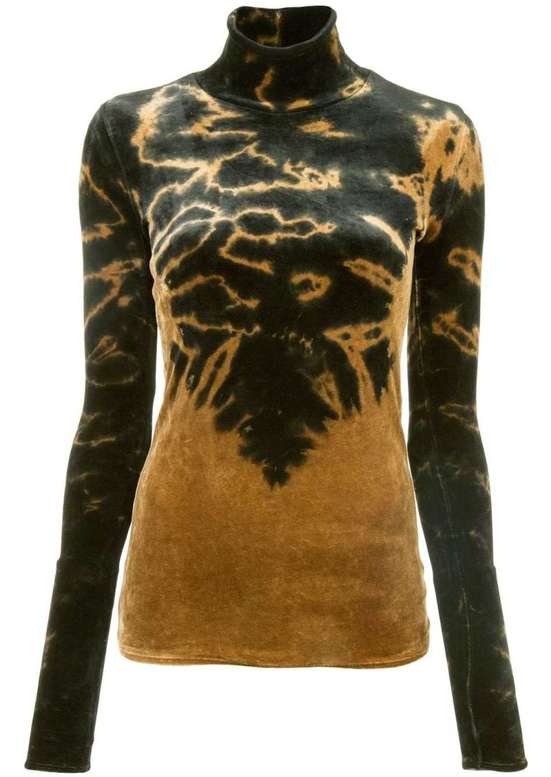 Proenza Schouler Long Sleeve Tie Dye Turtleneck