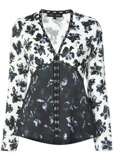 Proenza Schouler long sleeve v-neck blouse
