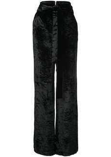 Proenza Schouler Crushed Velvet Wide Leg Pants