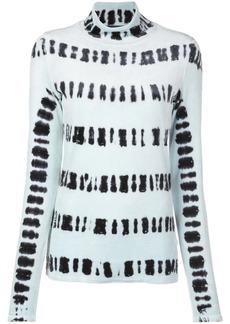 Proenza Schouler L/S Tie Dye Tneck-Velvet Jersey