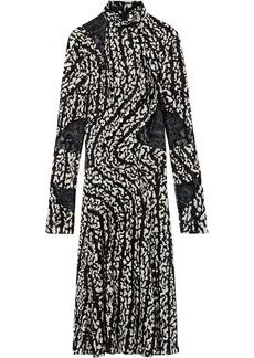 Proenza Schouler Marble Print Stretch Chiffon Dress