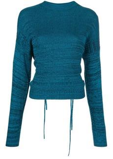 Proenza Schouler marl cut-out jumper