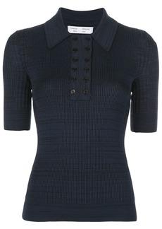 Proenza Schouler marl knitted polo shirt