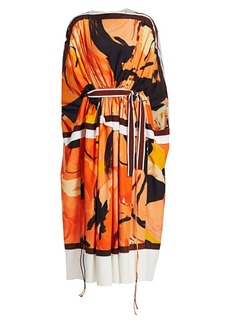 Proenza Schouler Marocaine Long Sleeve Midi Kaftan Dress