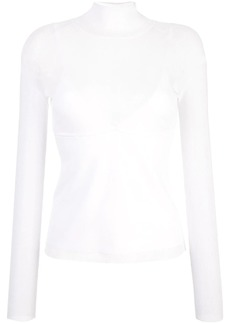 Proenza Schouler Matte Turtleneck Long Sleeve Turtleneck Top