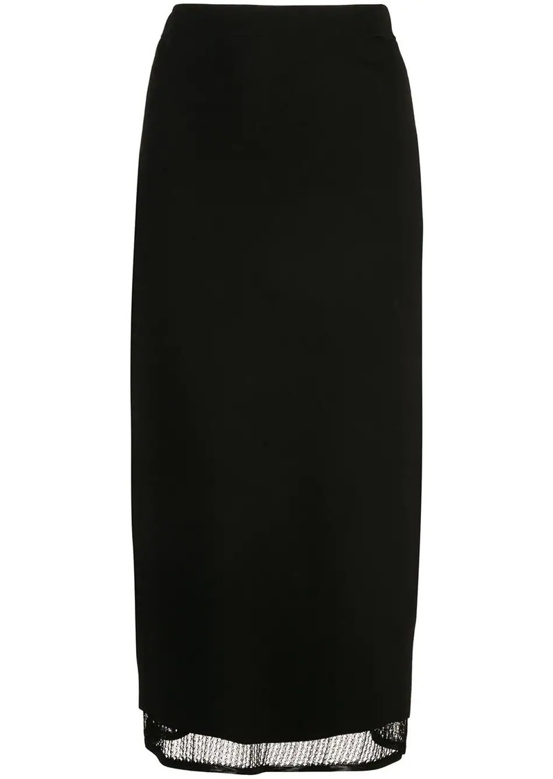 Proenza Schouler Matte Viscose Knit Skirt