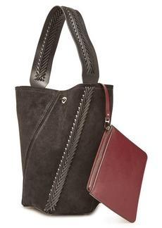 Proenza Schouler Medium Hex Bucket Bag with Suede and Leather