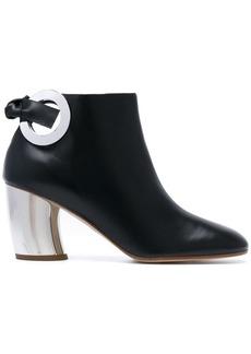 Proenza Schouler metallic contrast boots
