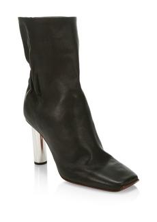 Proenza Schouler Mirror Heel Leather Mid-Calf Boots