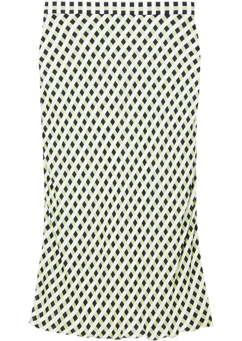Proenza Schouler Multicolor Gingham Georgette Slip Skirt