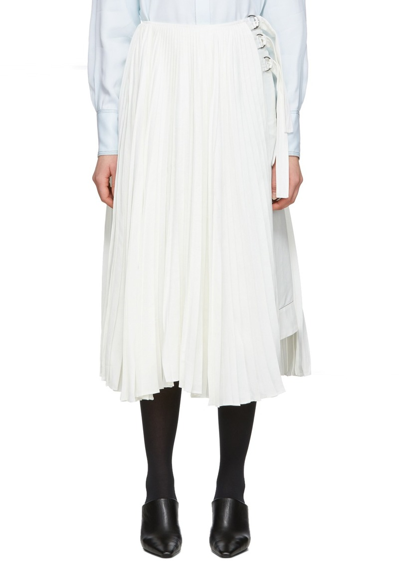 Proenza Schouler Off-White Linen Pleated Skirt