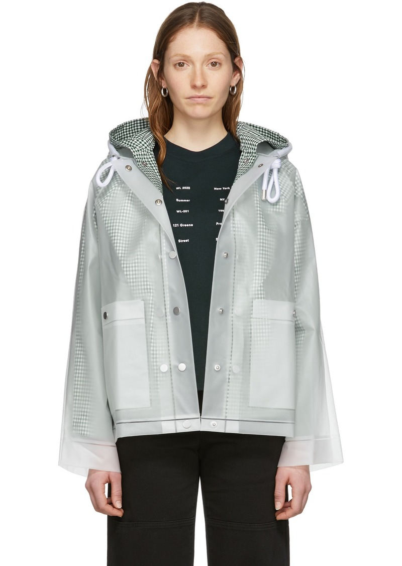 Proenza Schouler Off-White Short Lined Rain Jacket