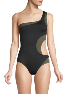 Proenza Schouler One-Piece Layered Swimsuit