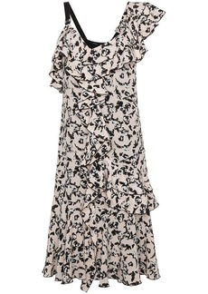 Proenza Schouler One Shoulder Ruffle Dress