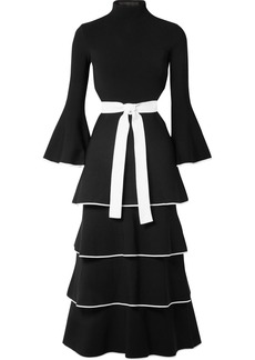 Proenza Schouler Open-back Tiered Stretch-cady Gown