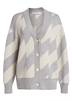 Proenza Schouler Oversized Chevron Cardigan Sweater