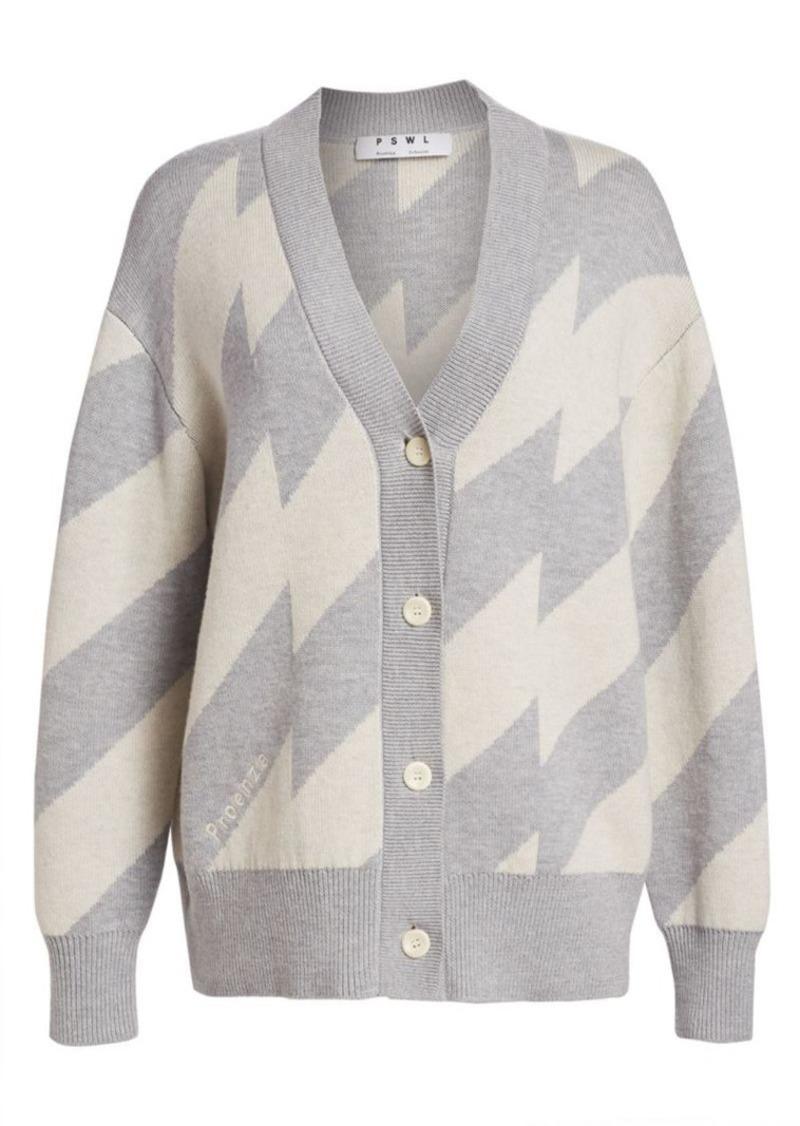 Proenza Schouler Oversized Chevron Cardigan Sweater