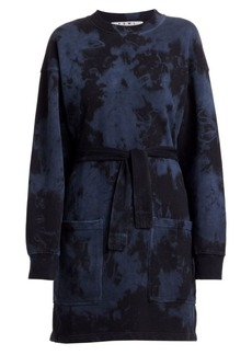Proenza Schouler Oversized Tie-Dye Sweatshirt Dress