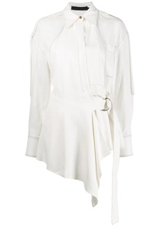 Proenza Schouler Oversized Top Stitched Button Down Shirt