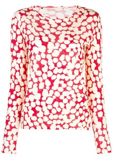 Proenza Schouler Painted Dot Long Sleeve T-Shirt
