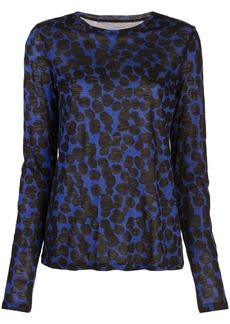 Proenza Schouler Painted Dot Long Sleeve T-Shirt