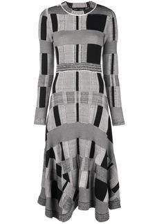 Proenza Schouler Patchwork Plaid Dress